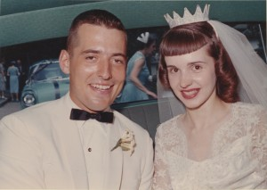 Marty and Dorita on their wedding day.
