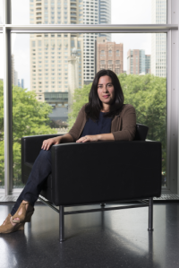 Julie Rodrigues Widholm joins DePaul University Aug. 31 as the director of the DePaul Art Museum.  (Photo by Nathan Keay, © MCA Chicago)